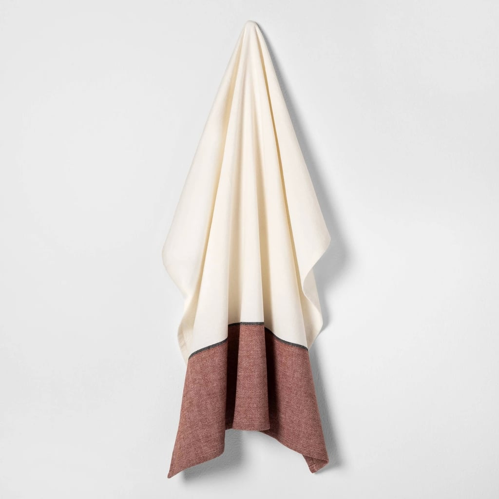 Flour Sack Kitchen Towel in Sour Cream / Rust