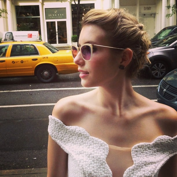 Emma Roberts channeled her inner glamour girl for an appearance in NYC. Source: Instagram user emmaroberts6