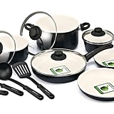 GreenLife CW0004970 Soft Grip Absolutely Toxin-Free Healthy Ceramic Nonstick  Set