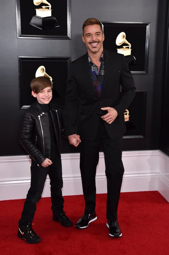 "It's been 20 years since Ricky Martin was ""Livin' La Vida Loca,"" but decades later, his life is still, indeed, loca. On Sunday night, the Assassination of Gianni Versace actor walked the red carpet hand-in-hand with his 10-year-old son, Matteo, and all eyes were likely on the adorable duo, dressed in matching all-black outfits. As for Matteo's twin brother Valentino, we have a feeling he's cheering them on with Ricky's husband, Jwan Yosef, and their newborn baby girl, Lucia. It's a big night for Ricky, as he's opening the 2019 Grammy Awards with Camila Cabello, J Balvin, Arturo Sandoval, and Young Thug in a performance that's bound to be unforgettable. But don't let Ricky's mustache distract you from the adorableness that is the father-son pair. Matteo sure is going to have good stories for the kids at school tomorrow! Read on to see photos of Ricky and his son Matteo at the Grammys.      Related:                                                                                                           Lady Gaga, Drake, Cardi B, and Everyone Else Who Won a Grammy This Year"