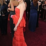 Michelle Williams gave an over-the-shoulder pose.