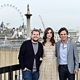 James Corden, Keira Knightley, and Mark Ruffalo made the most of the view in London whilst promoting Begin Again.