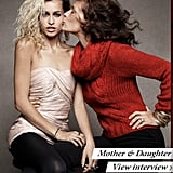 Alice Dellal and her mom Andrea get close.