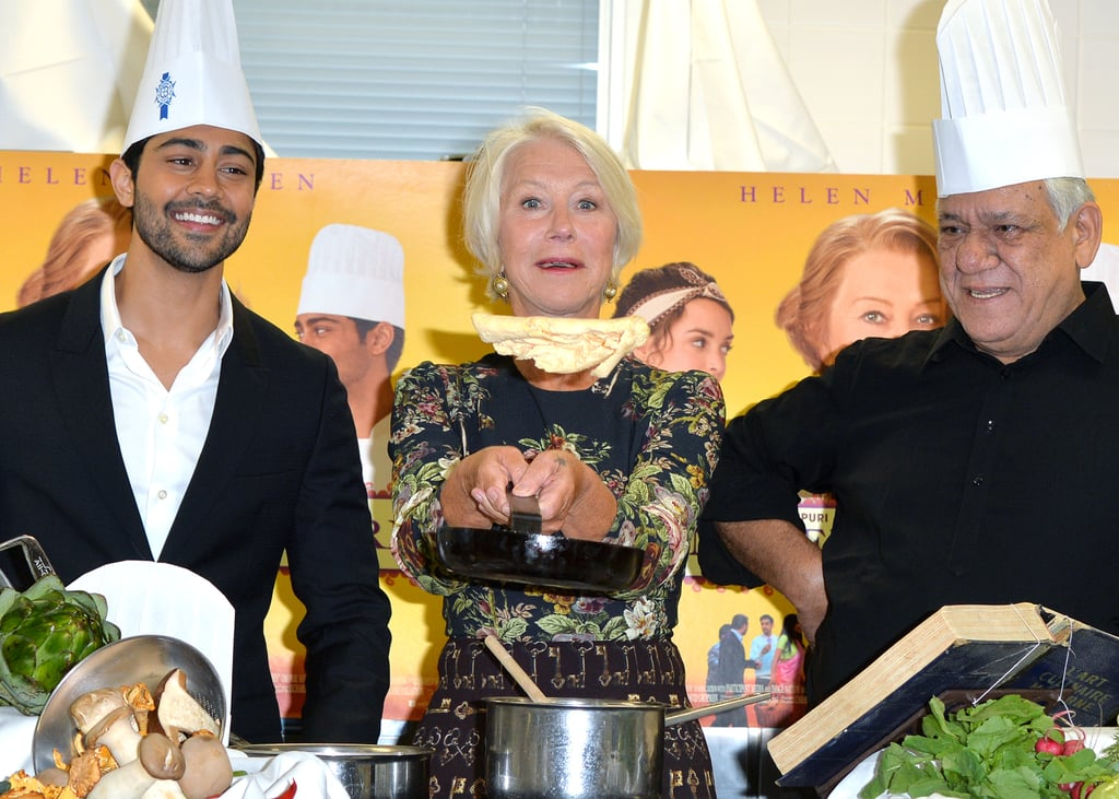 Helen Mirren whipped up a snack at an event for her movie The Hundred-Foot Journey in London on Tuesday.