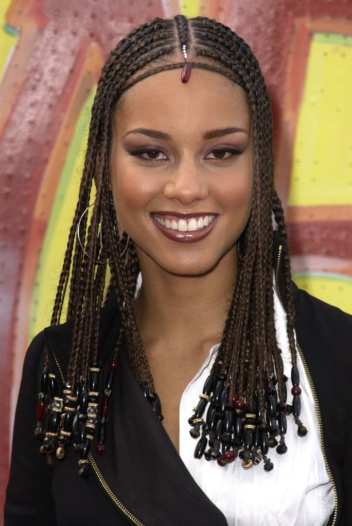 Astounding Alicia Keys39S Best Hair And Makeup Looks Popsugar Beauty Hairstyles For Women Draintrainus