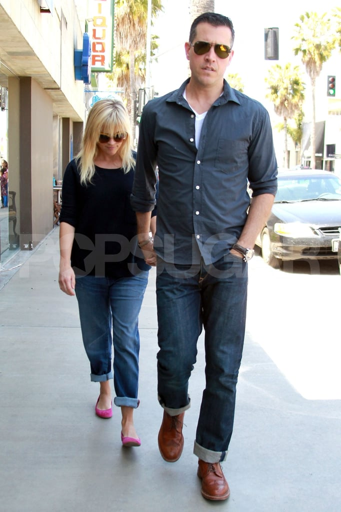 Pregnant Reese Witherspoon and her husband Jim Toth stepped out in LA.
