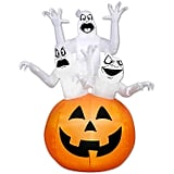 Gemmy Ghosts in a Pumpkin Inflatable Outdoor Decoration