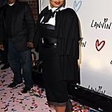Janet Jackson went for an androgynous look at the Lanvin party.