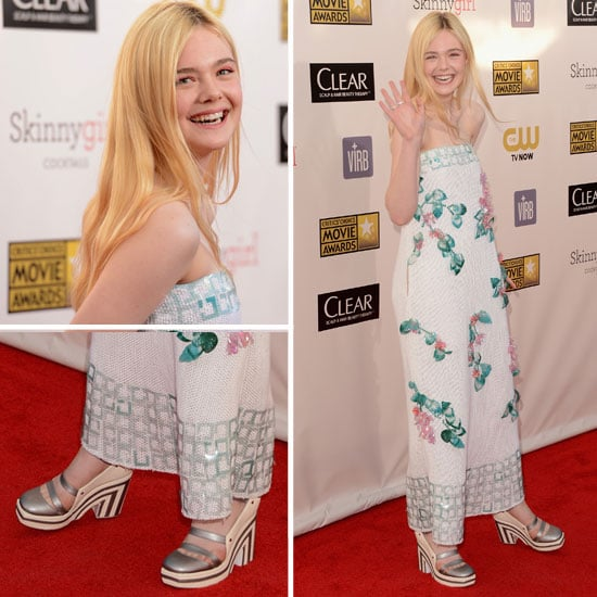 Pics of Elle Fanning in Chanel 2013 Critic's Choice Awards