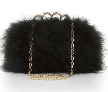 If you're feeling extra playful this holiday season, grab this BCBGMAXAZRIA black feather clutch ($148). It'll add major texture to any look.
