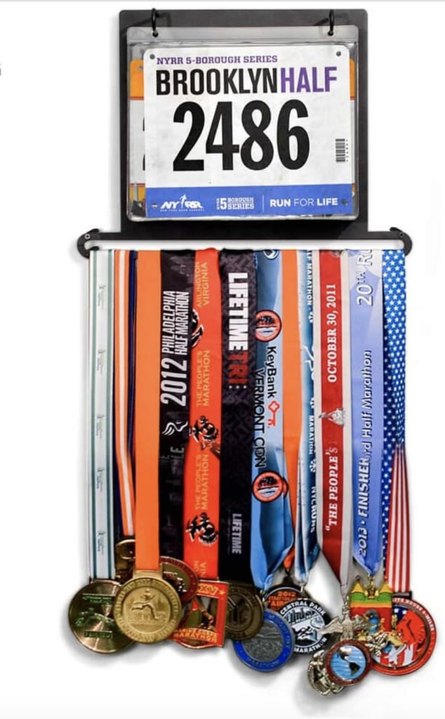 Gone For A Run Race Bib And Medal Display These Sleek Medal Racks Are Great Gifts For Runners Popsugar Fitness Australia Photo 6