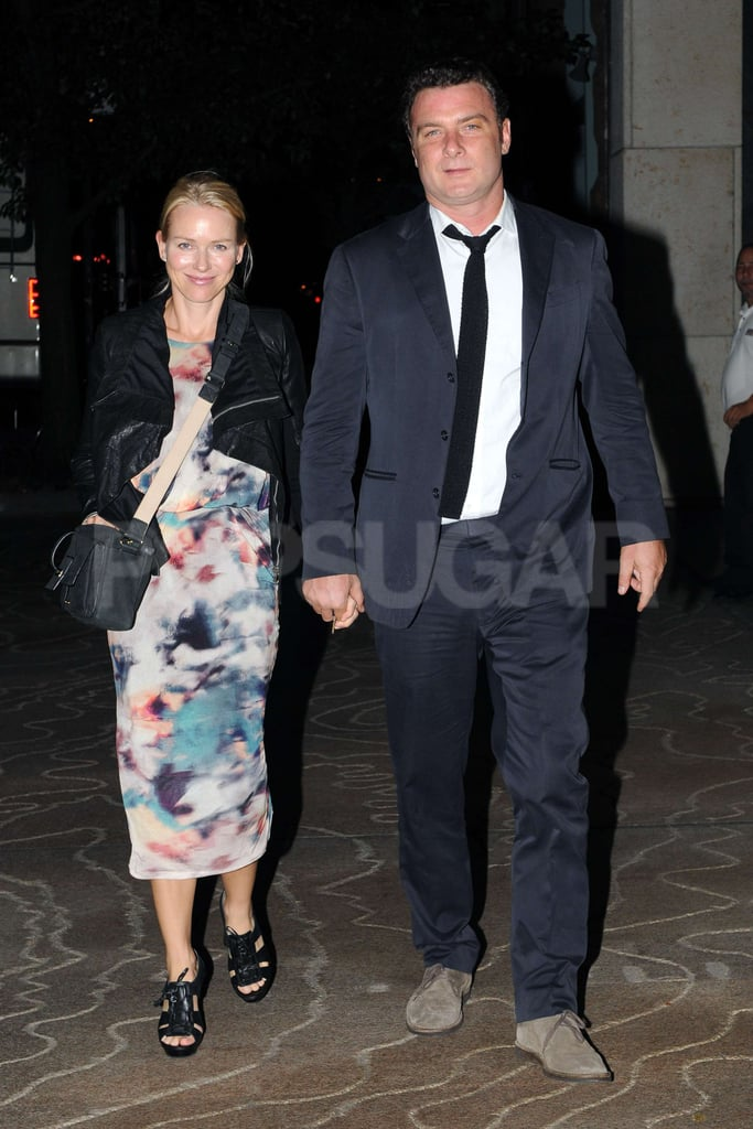 Naomi Watts and Liev Schreiber went to dinner for Naomi's birthday.
