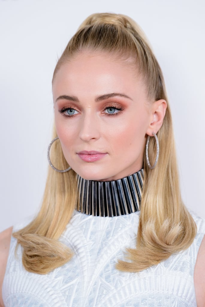 Sophie Turner's Polished Half-Up Hairstyle