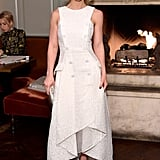 "Christina Ricci looked elegant in a white sheath and Nicholas Kirkwood celebrating W Magazine's ""It Girls"" with Stuart Weitzman."