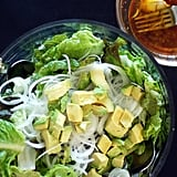 Avocado-Topped Greens With Red Wine Vinaigrette