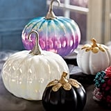 Iridescent Pumpkins With Lights