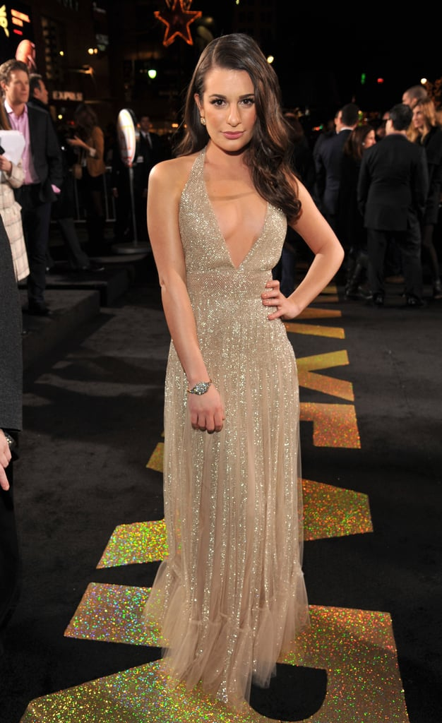 Lea Michele arrived at the New Year's Eve premiere.
