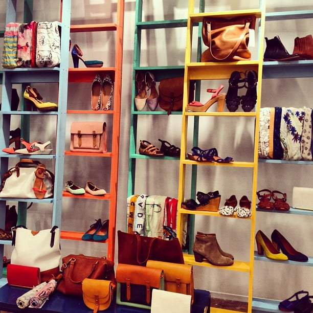 It was a game of shoes and ladders at the Madewell Spring preview.