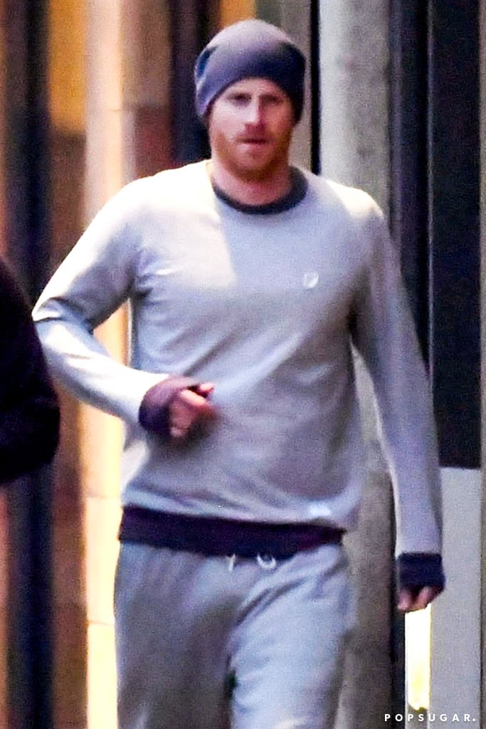 Prince Harry proved once again that he looks good in just about anything when he was spotted leaving the gym in London on Tuesday. The royal, who announced his engagement to Meghan Markle just the day before, showed off his sexy scruff and kept things casual in a beanie and gray sweatsuit. That same day, it was also revealed that Meghan and Harry will tie the knot at St. George's Chapel at Windsor Castle in May 2018, which also happens to be around the same time that Prince William and Kate Middleton's third baby is due. Now we are fully aware that Harry is going to be a married man soon, but there's no harm in staring at these photos all day, right?        Related:                                                                                                           Why Prince Harry and Meghan Markle's Engagement Is a Historic Moment For the Royals