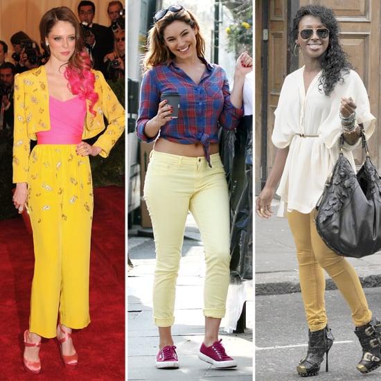 Kelly Brook, Alexandra Burke, Coco Rocha in Yellow Trousers