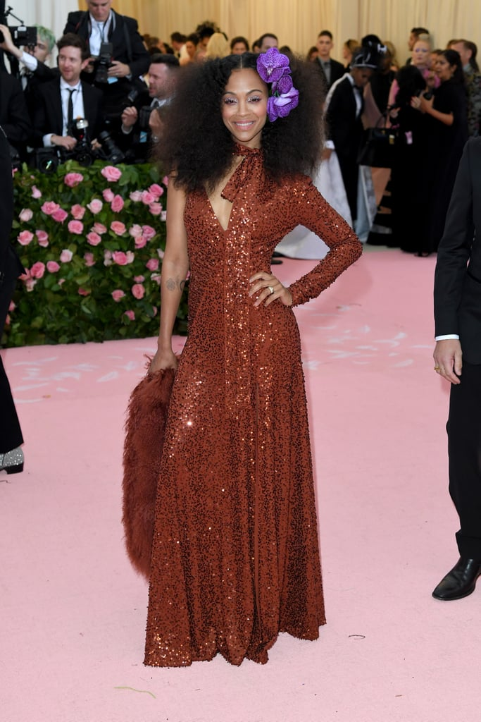 Zoe Saldana at the 2019 Met Gala