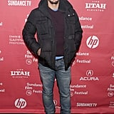 James Franco bundled up for the True Story premiere at Sundance.
