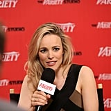 Rachel McAdams in a Black and Tan Lanvin Dress at TIFF