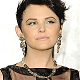 Ginnifer Goodwin didn't skimp on the jewels — both her earrings and necklace had the same decadent, vintage vibe.