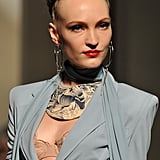 A very precise victory roll style was worn by models in the Spring 2012 Jean Paul Gaultier show.