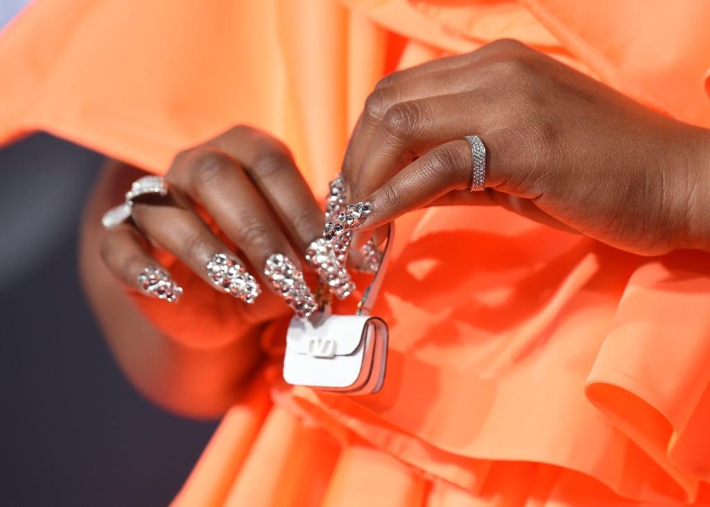 Lizzo's Crystal Nails at the 2019 American Music Awards