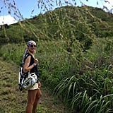 Heidi Klum went on a hiking adventure. Source: Twitter user heidiklum