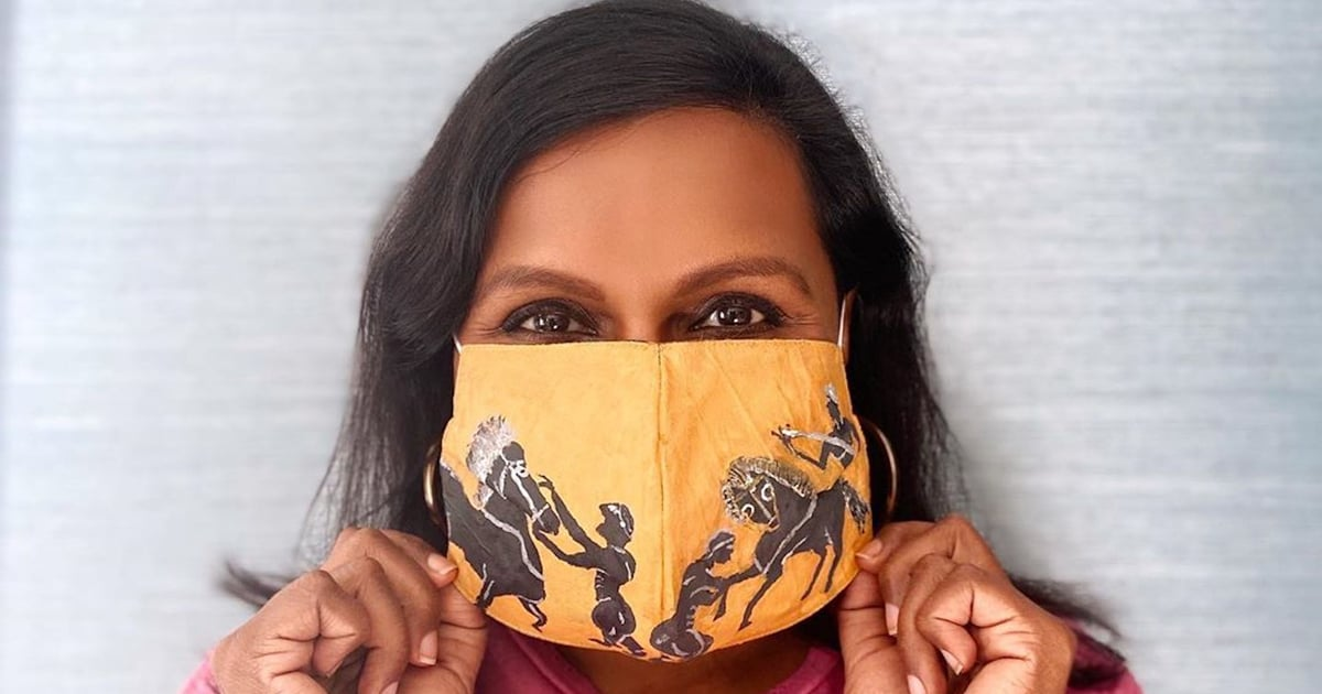 Mindy Kaling, Instagram-Challenge Pro, DIYs a Face Mask Inspired by Artwork From the Met