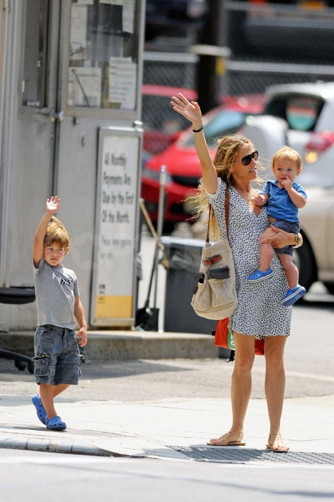 Sheryl Crow with Wyatt and Levi in NYC.