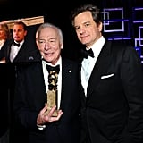 Christopher Plummer and Colin Firth at the Golden Globes.