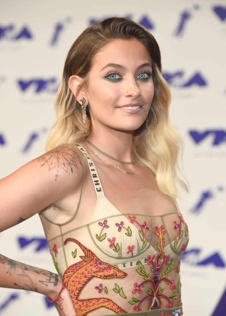 Paris Jackson Wearing Dior Dress at VMAs 2017