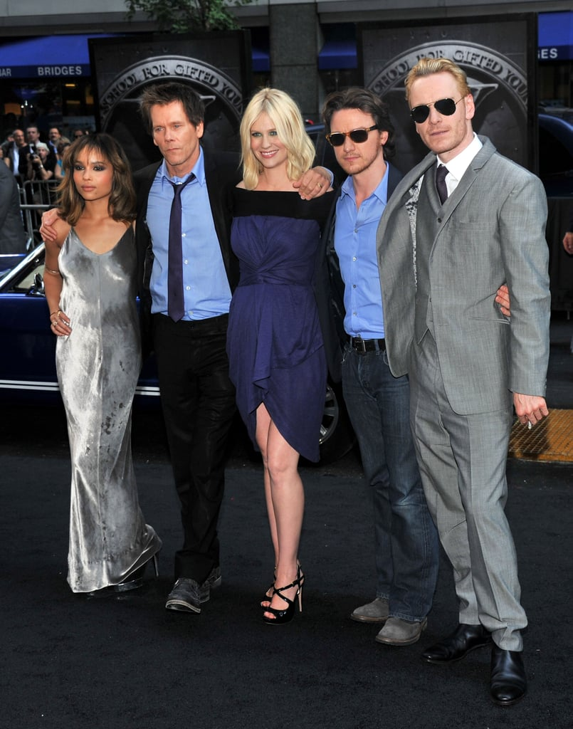 Pregnant January Jones Pictures at the NYC X-Men Premiere With Michael Fassbender