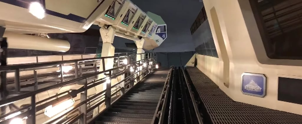 Disney's Space Mountain Ride With the Lights on Video