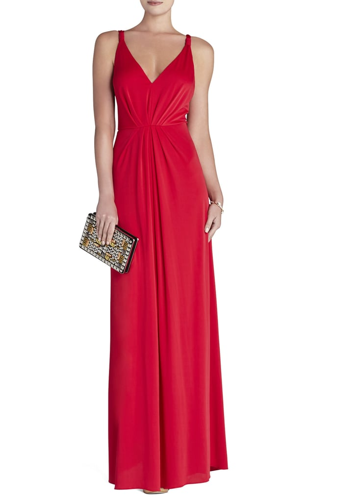 This BCBG Max Azria Hali V-Neck Gown ($338) boasts one of the most figure-flattering cuts.
