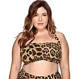 Lauren Ralph Lauren Leopard Retro Halter Bikini Top