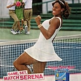 At least we can assume Serena Williams won something? White is a common color on the tennis court, so this isn't the worst, but extra points deducted for being recent.