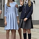 Princess Leonor and Infanta Sofía in 2017