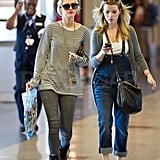 Ashlee Joins Fashionable Forces With Jessica as She Catches a Flight