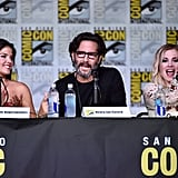 Pictured: Marie Avgeropoulos, Henry Ian Cusick, and Eliza Taylor.