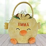 Embroidered Chick Easter Basket