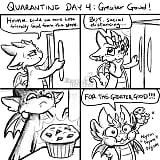Mom's Funny Dragon Comics on Social Distancing With Kids
