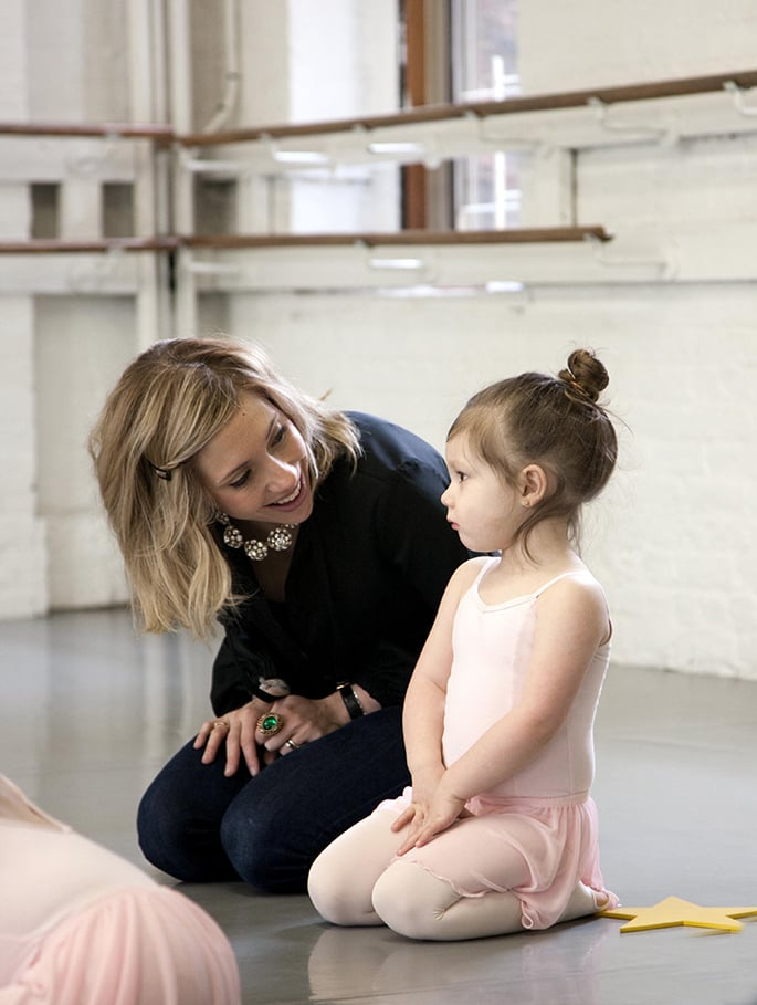"""POPSUGAR Moms: Tell us about your background and how George & Ruby came to be.  Marissa Kraxberger: I moved to NYC in 2006 and started my career in fashion at Diane von Furstenberg. I've also worked at Armani and Kate Spade. I've been at Oscar de la Renta for the past year. We had just launched Childrenswear and were brainstorming ideas on how to generate awareness. We came up with the idea of attaching the new line to a personality — making it very authentic. I said, """"I'm a mom, I can do this."""" I've always been kind of an open book so was happy to. We launched the blog in mid-July. Its name was inspired by our CEO's dogs, George and Ruby. I try to post five days a week, and my team helps a lot with that. Some days I'm better at the [work/life] balance than others, which I think is true of motherhood in general."""