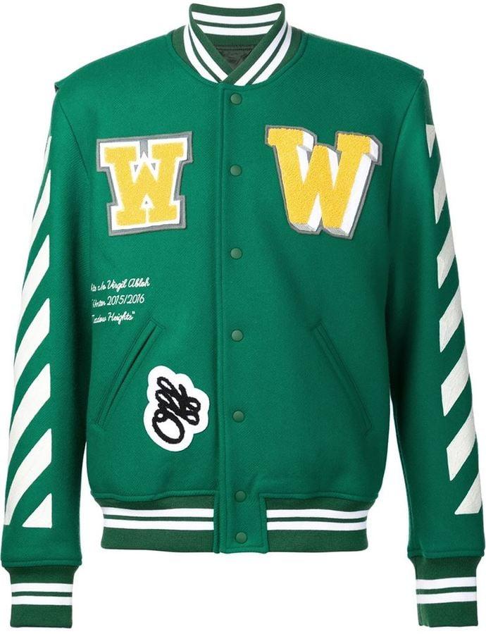f0c52b11b Off-White Striped Varsity Jacket ($1,350) | Kylie Jenner and Tyga ...