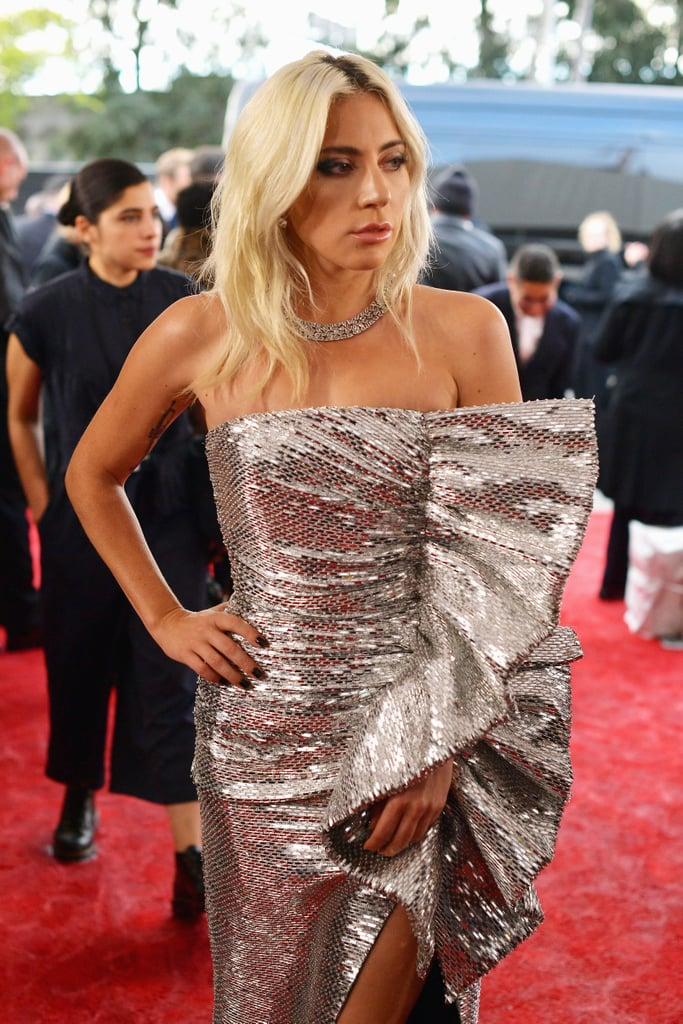 Lady Gagas Celine Dress At The 2019 Grammys Popsugar Fashion