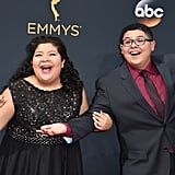 Rico Rodriguez and His Sister at the Emmys 2016