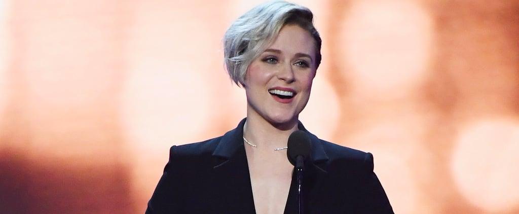 "Evan Rachel Wood Thanks Her ""Rock"" James Marsden at the Critics' Choice Awards"
